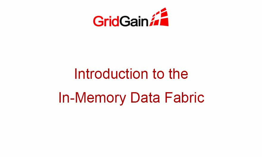 Introduction to the In-Memory Data Fabric