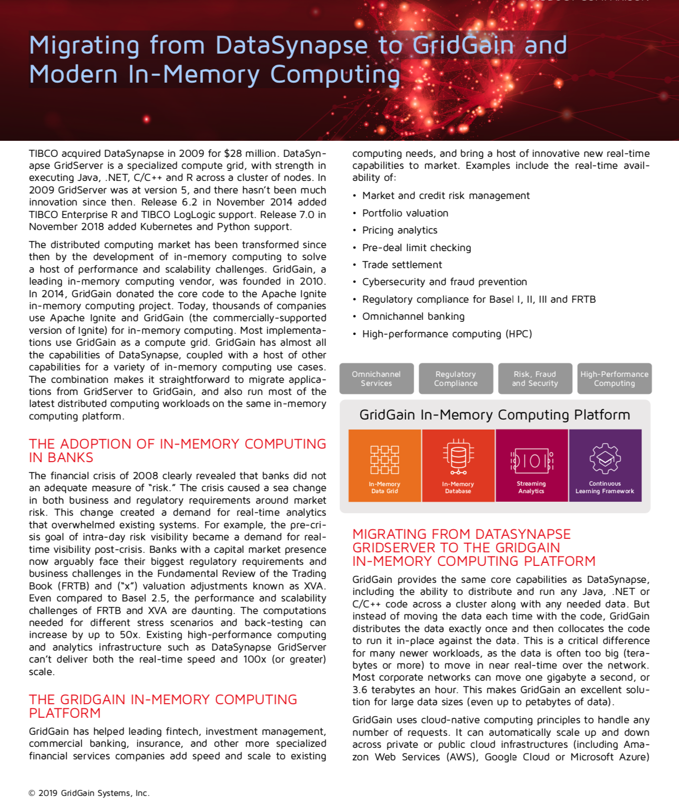 Migrating from DataSynapse to GridGain and Modern In-Memory Computing