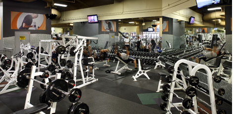 Inside view of a 24 Hour Fitness location