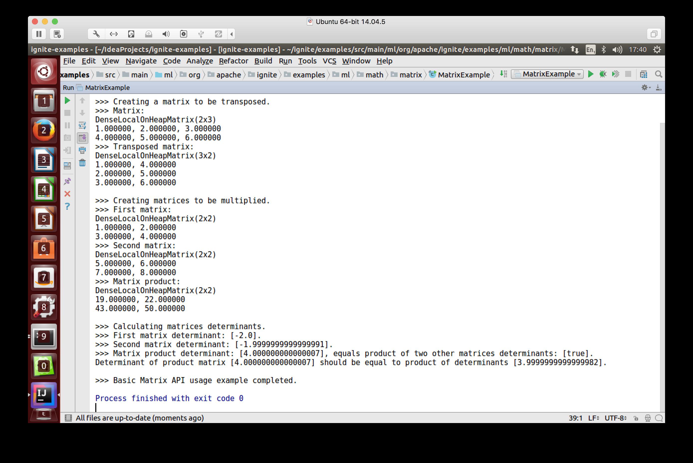 Figure 2. Basic Matrix API example