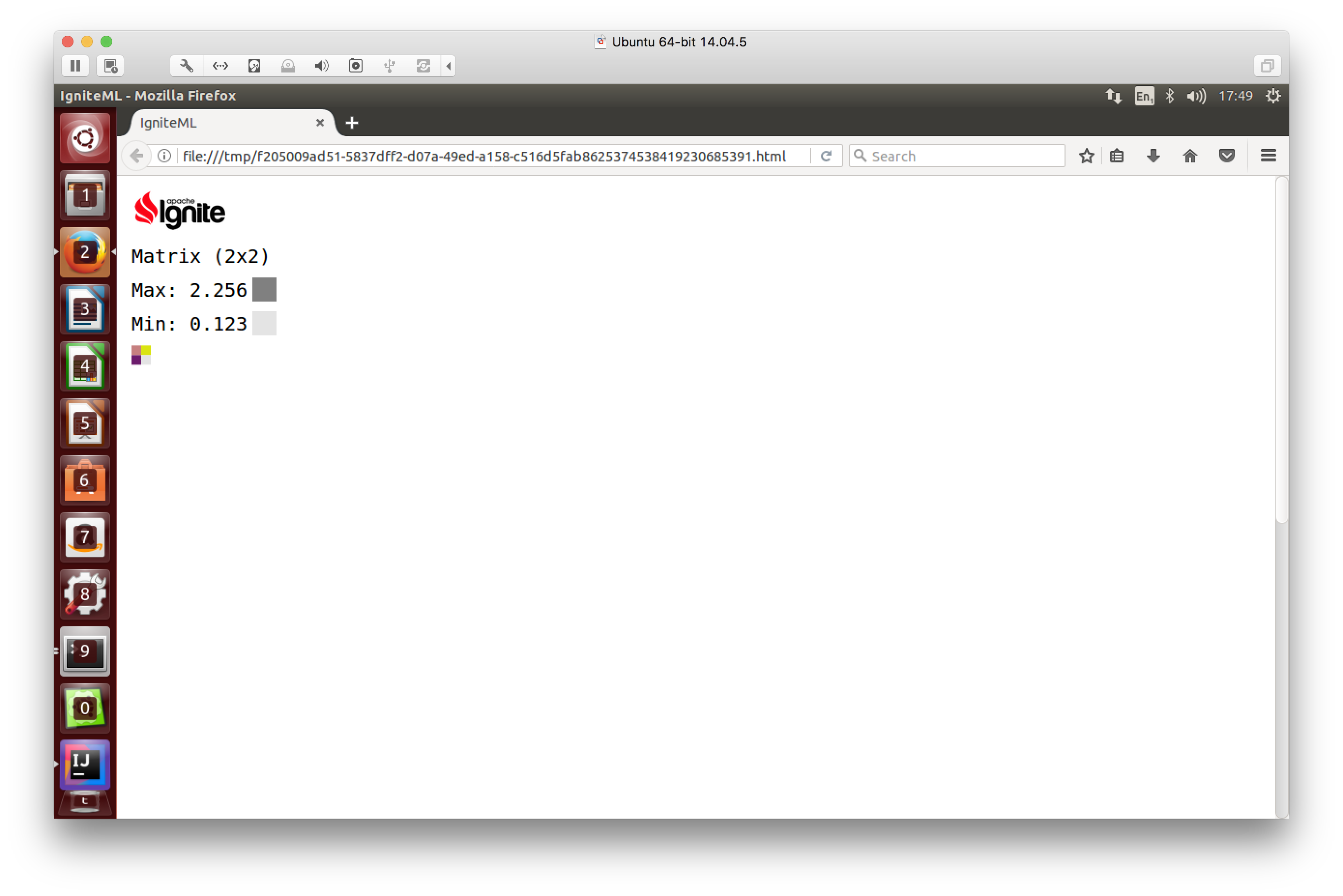 Figure 4. Tracer output to browser in HTML