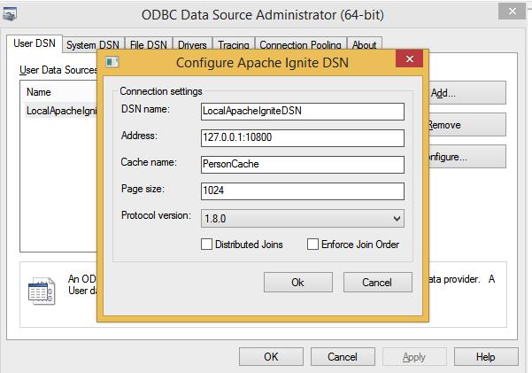 ODBC DSN Configuration